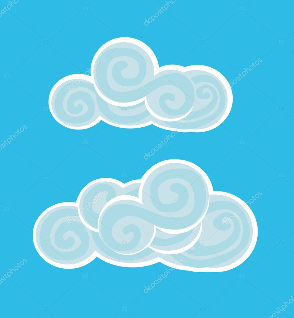 Vector illustration of beautiful clouds  — Stock Vector #1265669