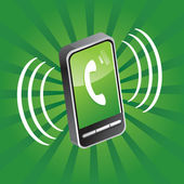 Mobile phone calling — Vector de stock