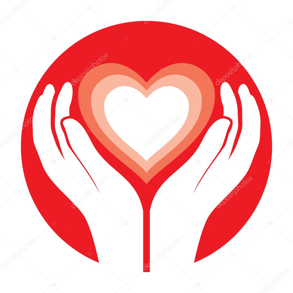 Cartoon Hands Holding a Heart Hands Holding Heart Vector