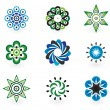 Collection of 9 vector design elements — Stock Vector