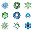 Collection of 9 vector design elements — Imagens vectoriais em stock