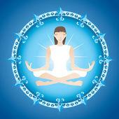 Yoga girl — Stock Vector