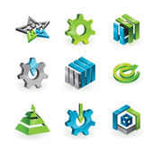 Collection of 9 design elements — Stock Vector