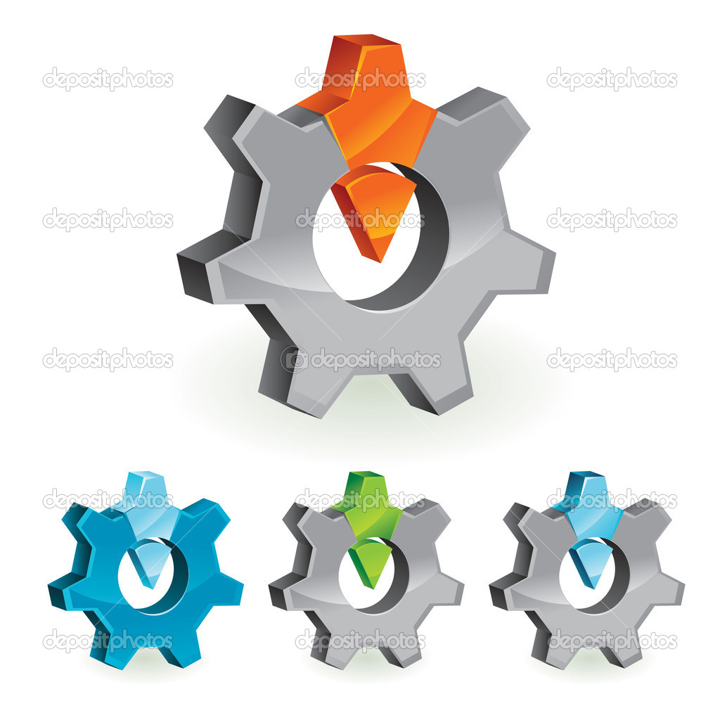 Abstract design element - gear - vector illustration — Векторная иллюстрация #2650659