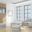 Interior of a living room. 3D image. — Stock Photo #1174129