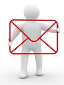 E-mail koncepcja na białym tle — Zdjęcie stockowe