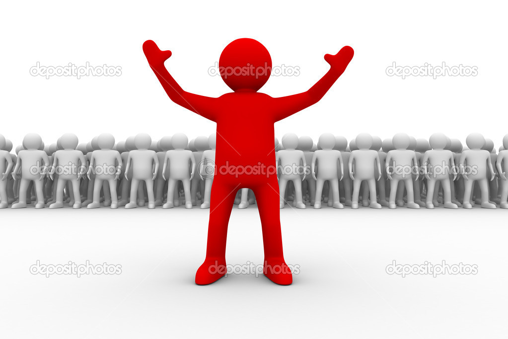 Leadership concept on white background. Isolated 3D image  Stock Photo #1186297