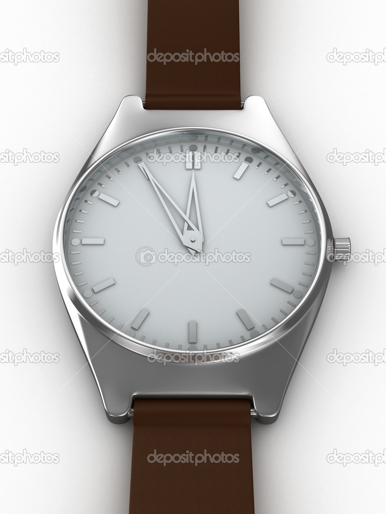 Watch on white background. Isolated 3D image — Stock Photo #1186443
