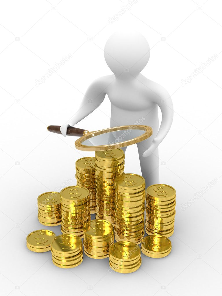 Increase finance on white background. Isolated 3D image — Stock Photo #1186516