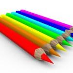 Set of pencils on white background — Stock Photo #1197903