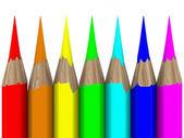 Set of pencils on white background — Stock Photo