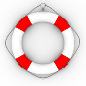 Lifebuoy on a white background — Stock Photo