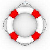 Lifebuoy on a white background — Stock Photo