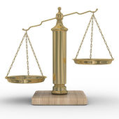 Scales justice on a white background — Stock Photo