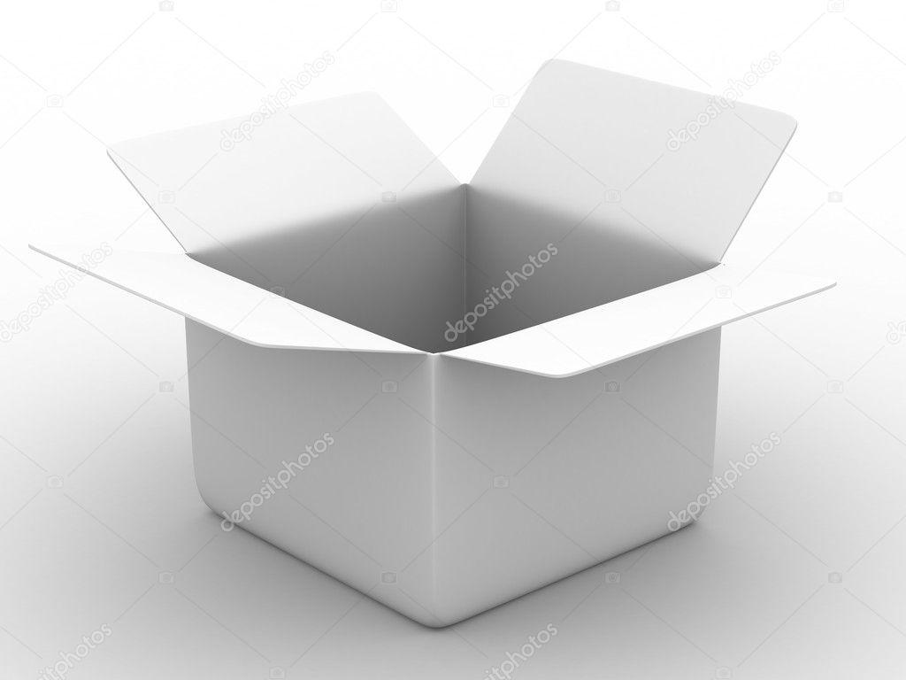 Open box on white background — Stock Photo © ISergey #1193787