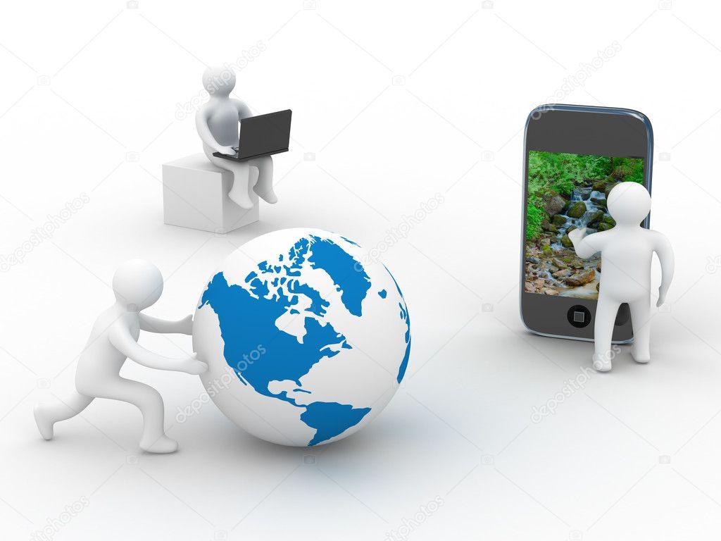 Фотообои на заказ концепция глобальной коммуникации