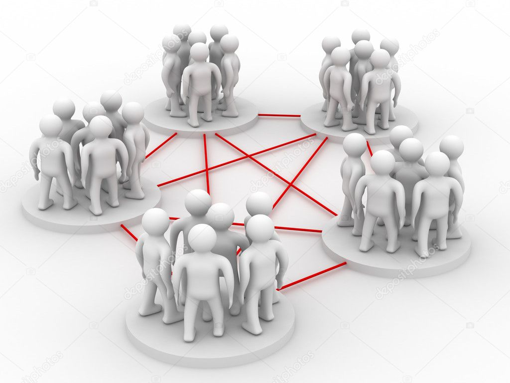 Conceptual image of teamwork. Isolated 3D image. — Stock Photo #1198050