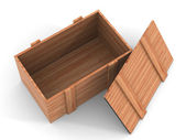 Open box on a white background. 3D image — Stock Photo