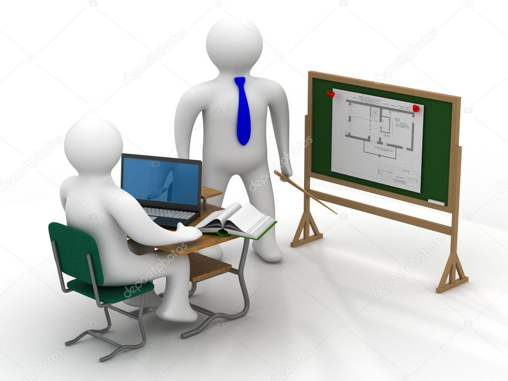 Lesson in a school class. Isolated 3D image. — Stock Photo #1202010