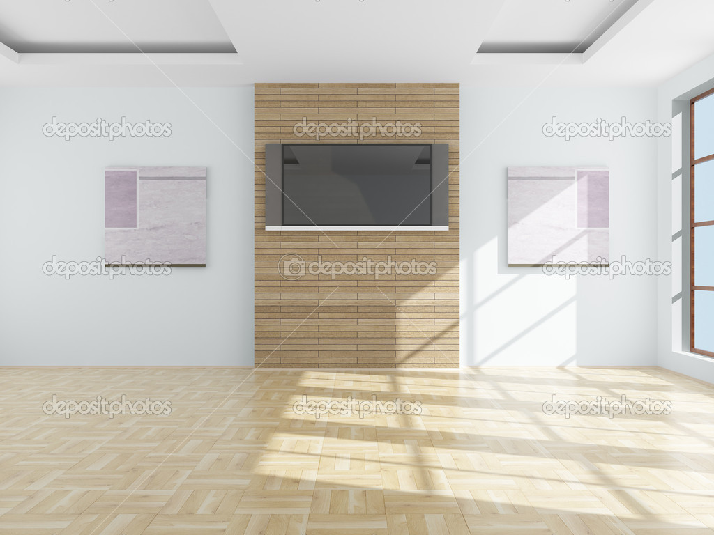Interior of a living room. 3D image.  Stock Photo #1203480