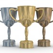Cups of the winner. the 3D image — Stock Photo #1302354