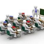 Lesson in a school class — Stock Photo