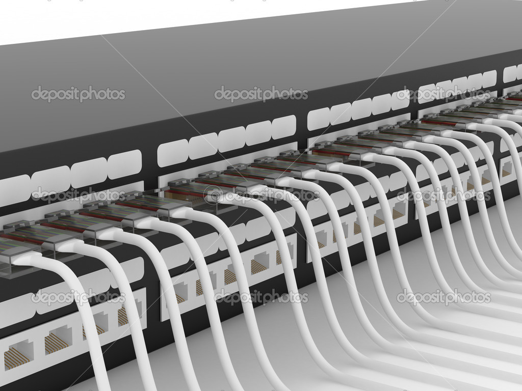 Active network equipment. Router. 3D image. — Stock Photo #1302368