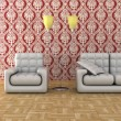 Interior of a living room. 3D image. — Stock Photo
