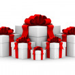 White gift box. Isolated 3D image. — Stock Photo