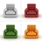 Set leather armchair — Stock Photo