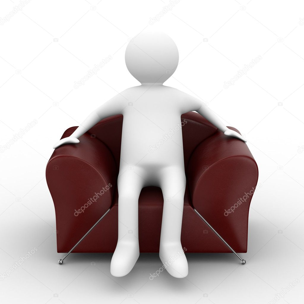 Person sitting in armchair stock photo isergey 1603244 for Sitting in armchair
