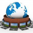 Protected global network the Internet — Stock Photo