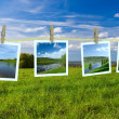 Landscape photographs - Stock Photo