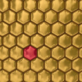 Comb honey. 3D image — Stock Photo