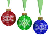 Christmas decoration on white — Stock Photo
