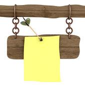 Nota adjunta a la junta una flecha — Foto de Stock