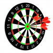 Darts on a white background — Stockfoto
