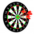 Darts on a white background - Stock Photo