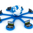 Global network the Internet. 3D image. — Stock Photo