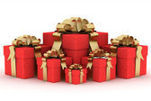 Gift boxs. 3D image. — Stock Photo