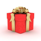 Gift box. 3D image. — Stock Photo