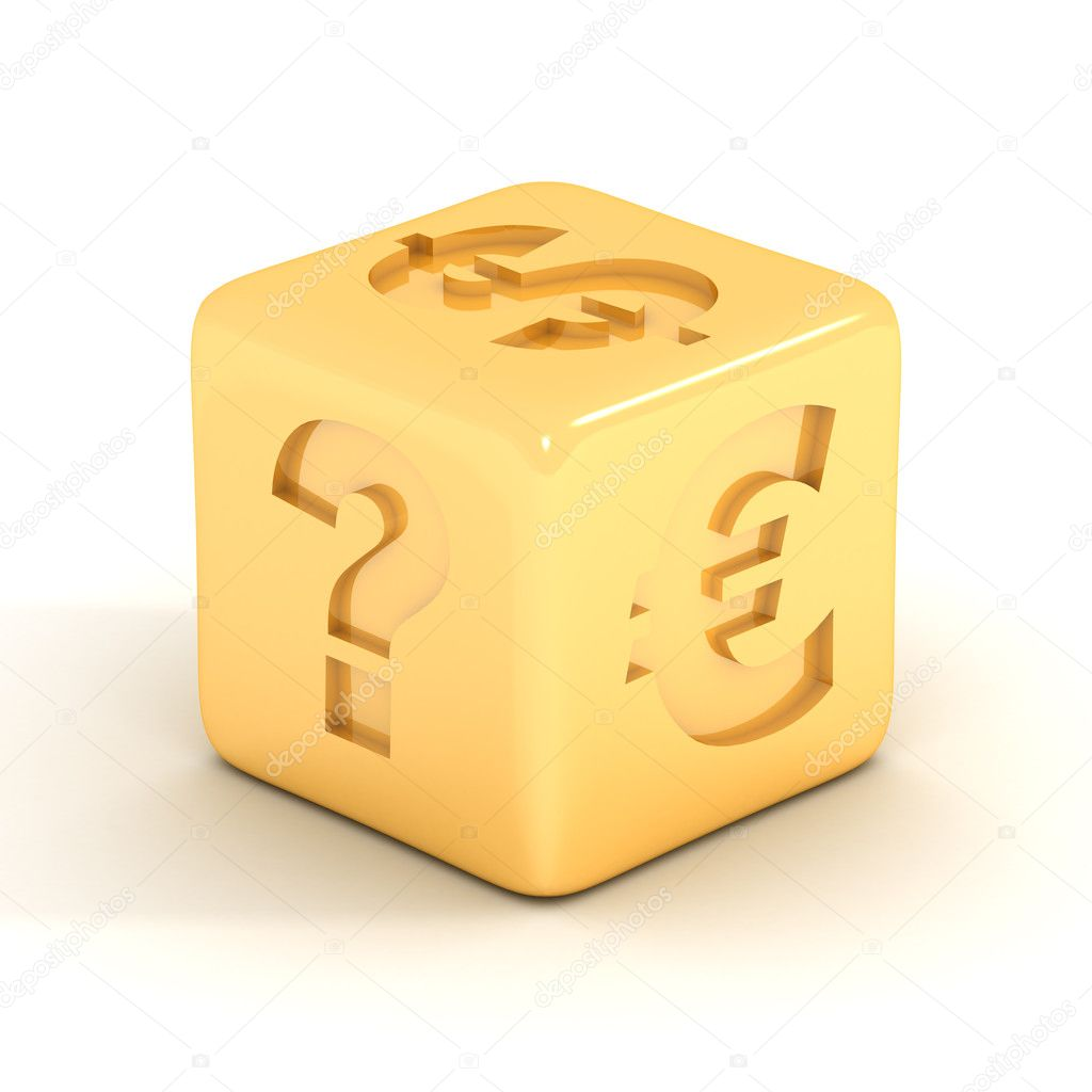 Cube with currency signs. 3D image. — Stock Photo #1802454