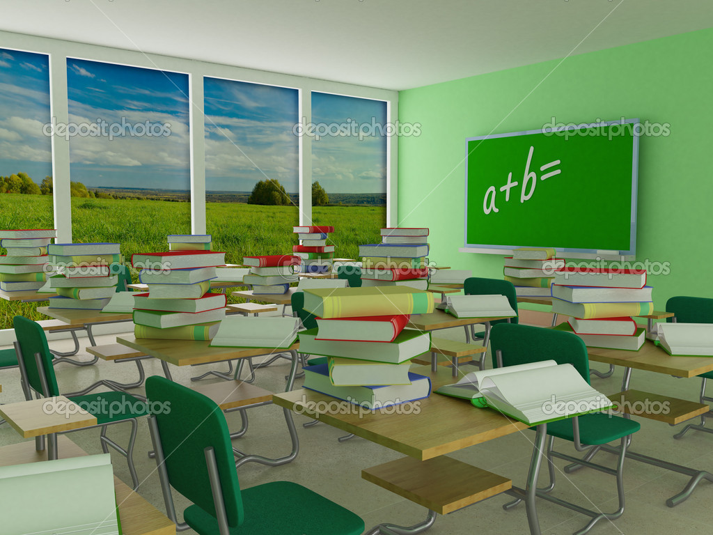 Interior Of A School Class 3d Image Stock Photo Isergey 1803037