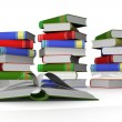Pile of books. 3D the isolated image. — Stock Photo #1866925