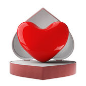 Heart in gift packing. 3D image. — Stock Photo