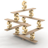 Financial balance. Stable equilibrium — Stock Photo