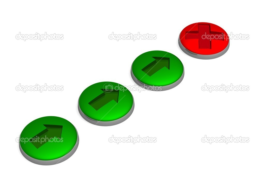Set of buttons. 3D image. — Stock Photo #1871107