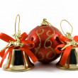 Stock Photo: Two handbells and sphere