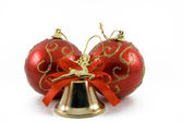 Two spheres and handbell — Stock Photo