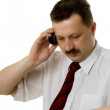 The man speaking by phone — Stock Photo
